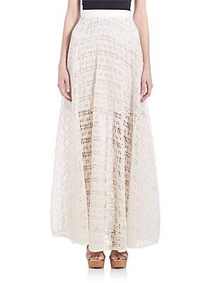 Raffia Net Maxi Skirt