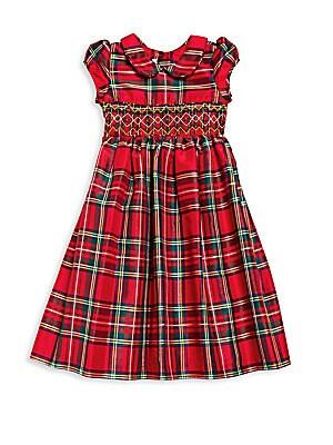 Little Girl's Plaid Dress