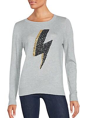 Thunder Bolt Sequin Sweater