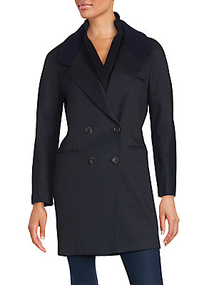 Beegees Knit Collar Coat
