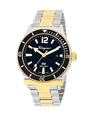 Analog Display & Stainless Steel Bracelet Watch