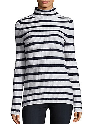 Striped Long Sleeve Cashmere Sweater