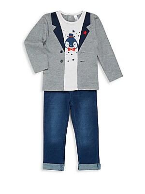 Baby Boy's Long Sleeve Tee & Pants Set