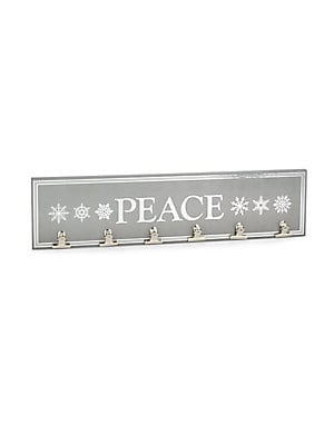 Peace Decorative Holiday Plaque