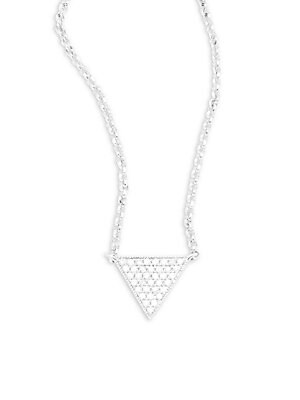 Click here for 14K White Gold & Diamond Triangle Pendant Necklace prices