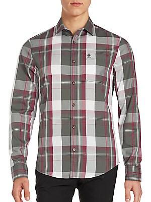 Button-Down Plaid Shirt