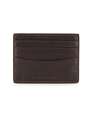 Chocolate Leather Card Case