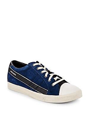 Leather Cap Toe Sneakers