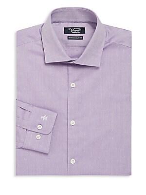 Slim-Fit Long Sleeve Cotton Dress Shirt