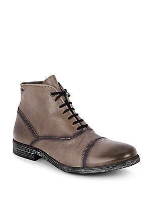 Jessuisse Leather Lace-Up Boots