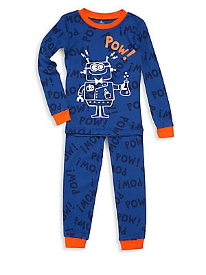 Little Boy's Robot Printed 2-Piece Pajama Set