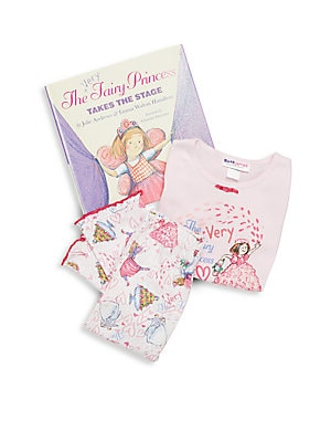 Little Girl's The Very Fairy Princess 3-Piece Printed Tee, Pants & Book Set