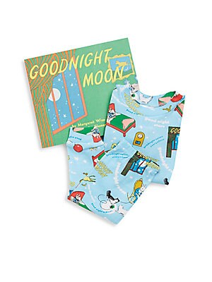 Boy's Goodnight Moon 3-Piece Printed Tee, Pants & Book Set