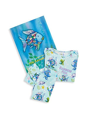 Baby's The Rainbow Fish 3-Piece Printed Tee, Pants & Book Set