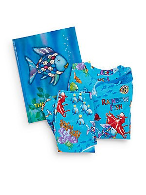 Little Boy's The Rainbow Fish 3-Piece Printed Tee, Pants & Book Set