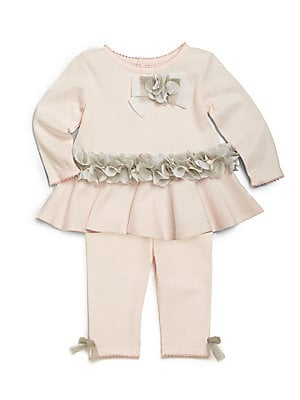 Baby's Two-Piece Ruffle Top & Leggings Set