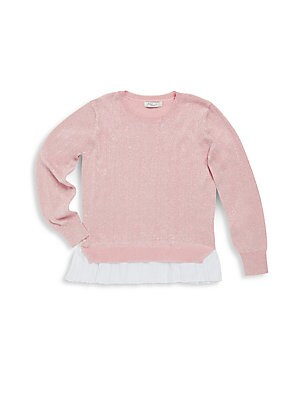 Girl's Crewneck Sparkling Sweater