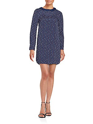 Rive Print Long Sleeve Dress