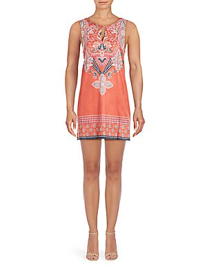 Gone Wild Printed Boatneck Dress