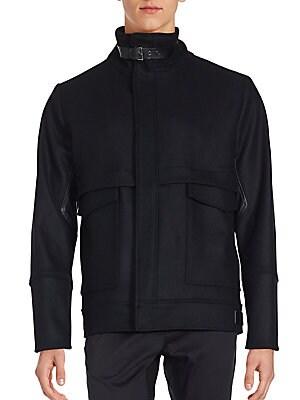 Buckle Mandarin Collar Jacket