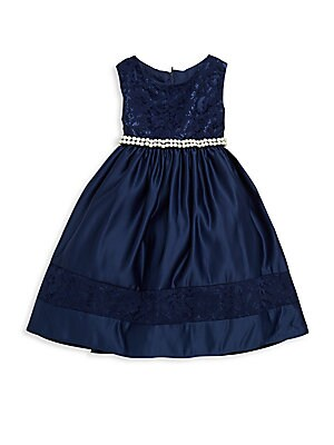 Little Girl's Lace-Trimmed Dress