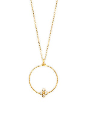 Click here for 24K Yellow Gold & Diamond Pendant Necklace prices