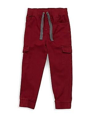 Little Boy's Solid Cotton Jogging Pants