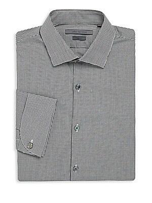 Checked Slim-Fit Cotton Dress Shirt