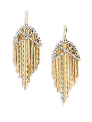 Crystal Encrusted Fringe Earrings