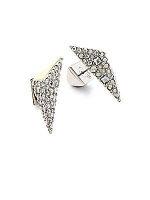 Crystal-Encrusted Stud Earrings