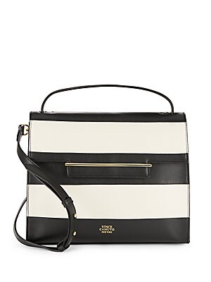 Striped Leather Handbag