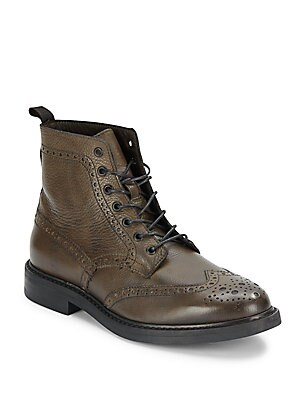Tooled Leather Ankle Boots