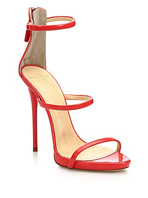 Leather 3-Strap Sandals