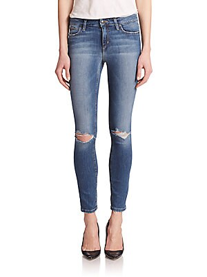 Icon Distressed Ankle Skinny Jeans