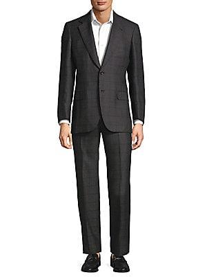 Windowpane Cashmere Suit