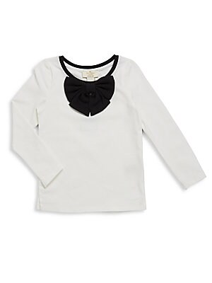 Toddler's Solid Bow Top