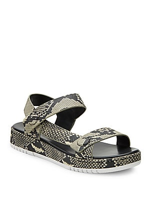 Animal Printed Leather Sandals