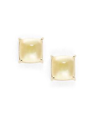 Citrine & 18K Gold Cocktail Earrings