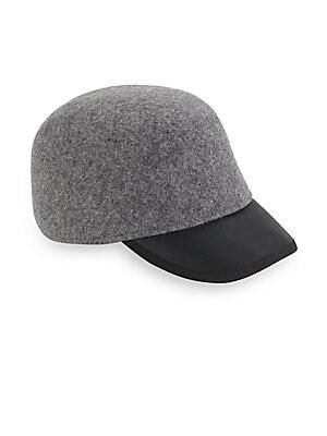 Alex Heathered Wool & Leather Cap