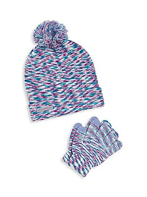Girl's Four Piece Hat & Gloves Set