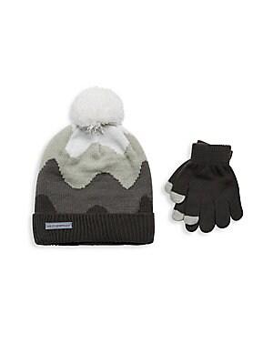 Baby's Three Piece Hat & Gloves Set