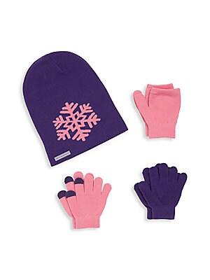 Baby's Four Piece Hat & Gloves Set