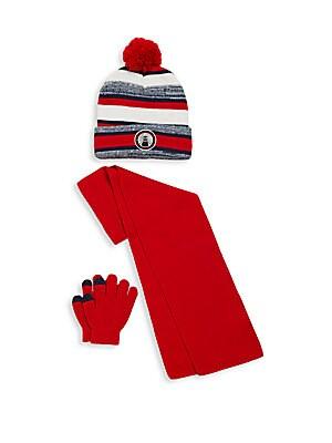 Boy's Three Piece Hat, Gloves & Scarf Set