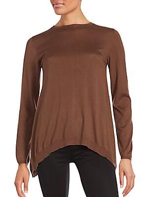 Solid Cashmere-Blend Pullover