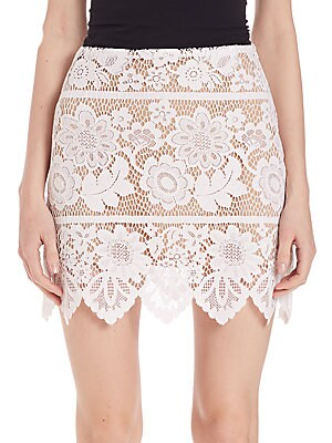 Gianna Lace Mini Skirt