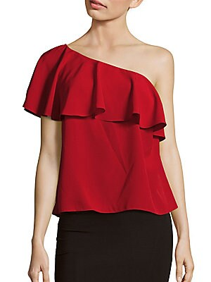 Solid One-Shoulder Top