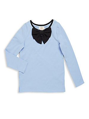 Little Girl's Contrast Bow Top