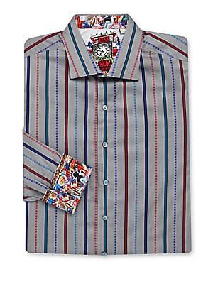 Big & Tall Sherlock Long-Sleeve Striped Shirt