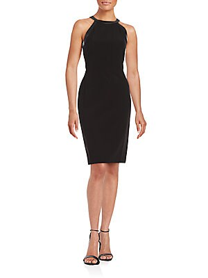 Solid Cocktail Sheath Dress