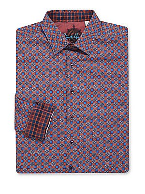 Big & Tall Cotton Printed Dress Shirt